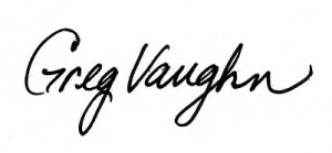 Greg Vaughn signature