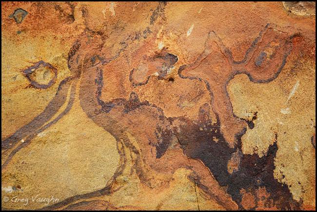patterns in basalt rock