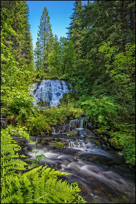 waterfalls below Upper Salmon Lake