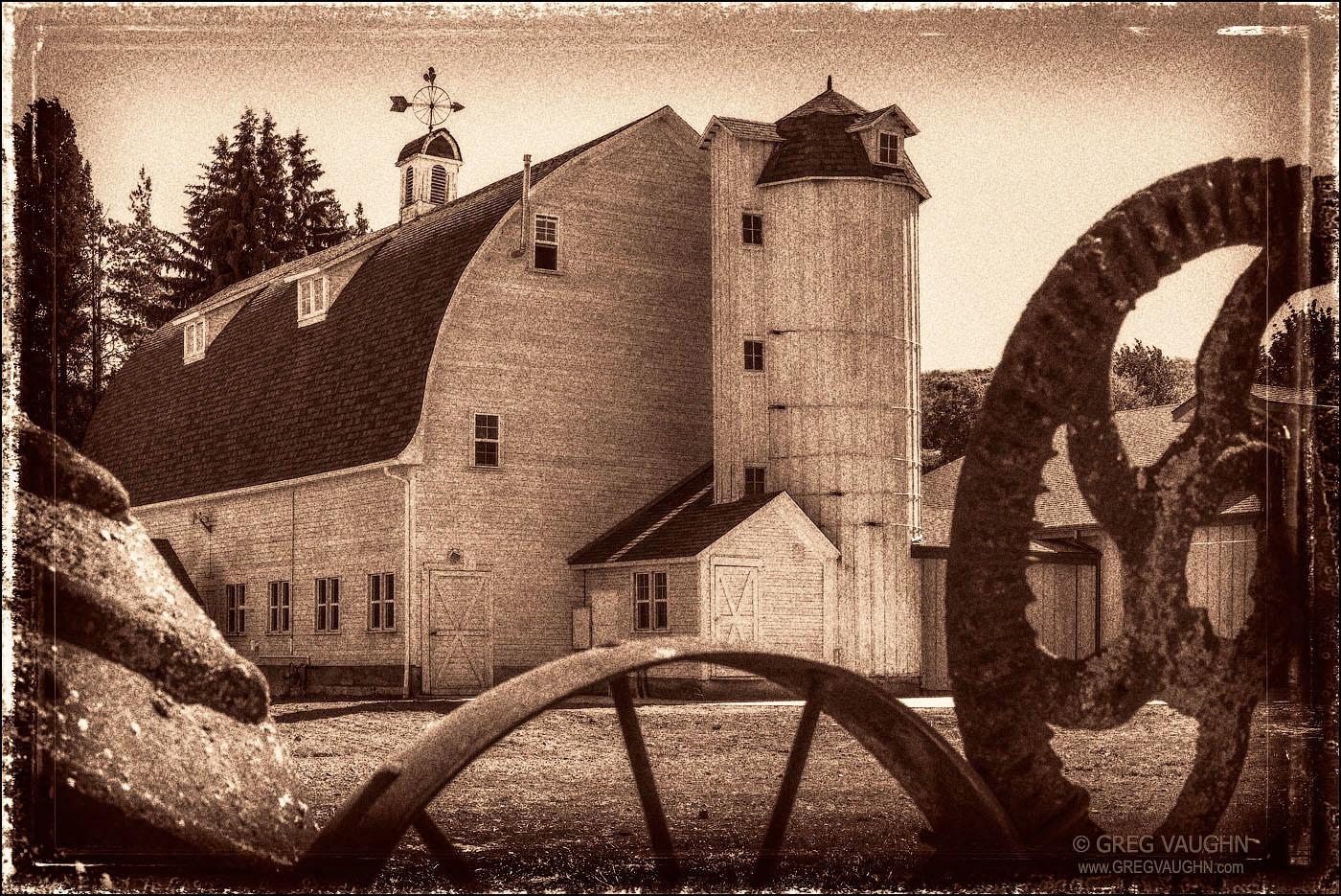 Historic Dahmen Barn in Uniontown, Washington